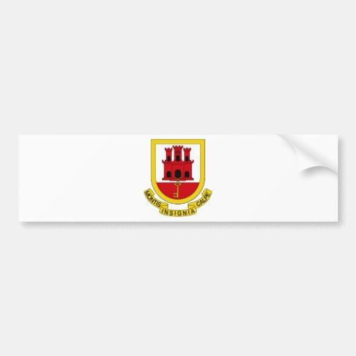 Gibraltar Coat of Arms Bumper Stickers