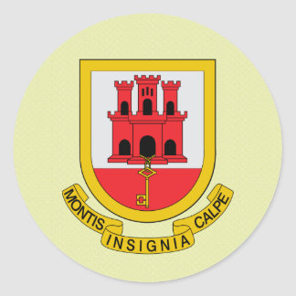 Gibraltar Coat of Arms detail Classic Round Sticker