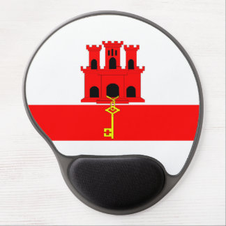 Gibraltar country long flag nation symbol republic gel mouse pad