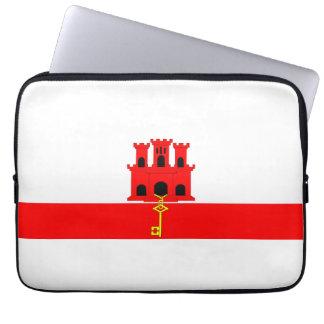 Gibraltar country long flag nation symbol republic laptop computer sleeve