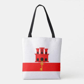 Gibraltar country long flag nation symbol republic tote bag
