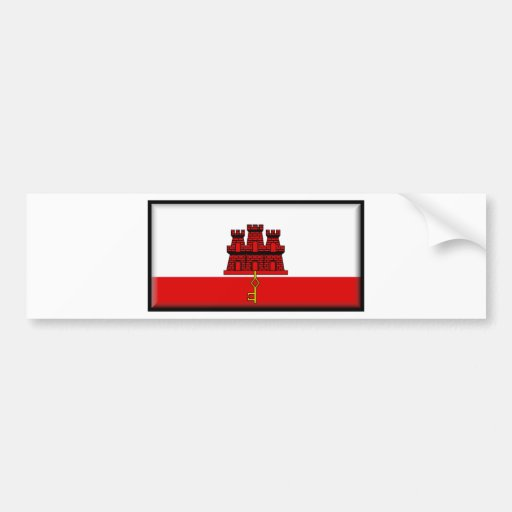 Gibraltar Flag Bumper Stickers