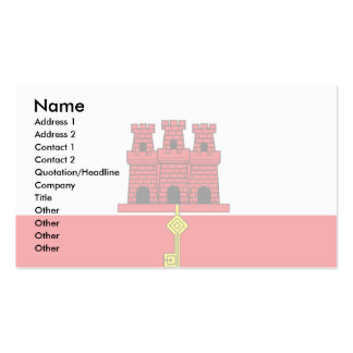 Gibraltar Flag Business Card Template