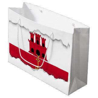 Gibraltar flag large gift bag
