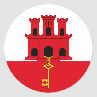 Gibraltar Flag Sticker