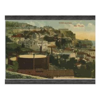 Gibraltar - Gas Works, Vintage Postcard