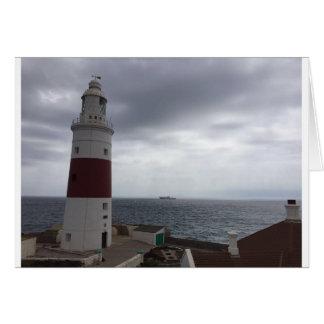 Gibraltar Lighthouse Card