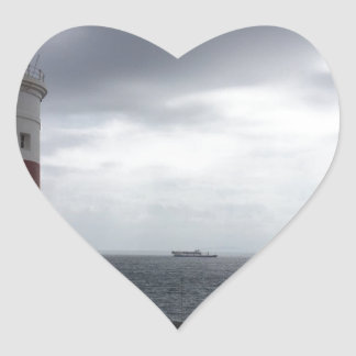 Gibraltar Lighthouse Heart Sticker