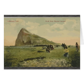 Gibraltar Rock From Neutral Ground, Vintage Greeting Card