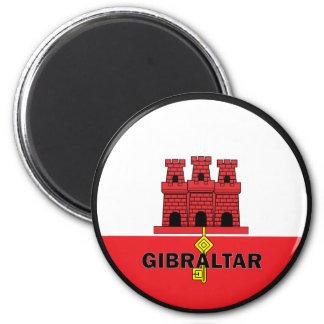 Gibraltar Roundel quality Flag 6 Cm Round Magnet
