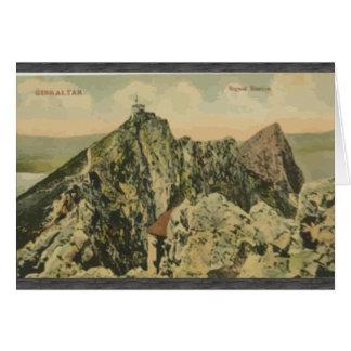 Gibraltar Sigeal Station, Vintage Greeting Card
