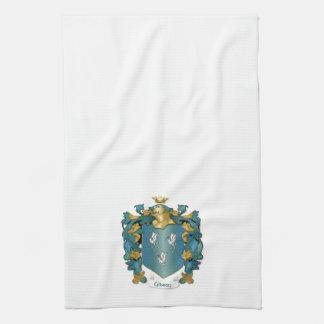 Gibson Coat of Arms and Ancient Tartan Tea Towel