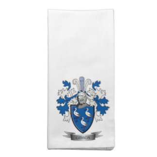 Gibson Family Crest Coat of Arms Napkin