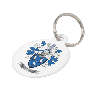 Gibson Family Crest Coat of Arms Pet Tag