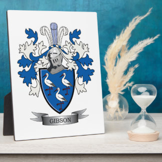Gibson Family Crest Coat of Arms Plaque