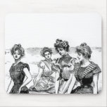 Gibson Girls at the Beach Mouse Pad