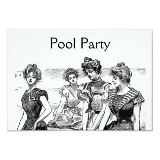 Gibson Girls Pool or Beach Party Card