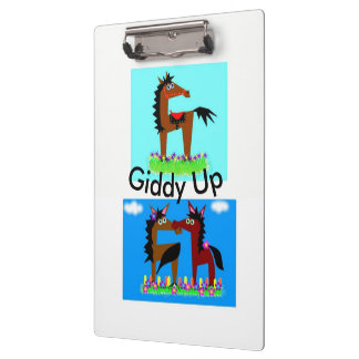 Giddy Up Doodle Clipboard