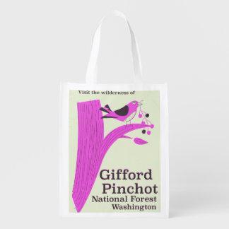 Gifford Pinchot National Forest Washington Reusable Grocery Bag