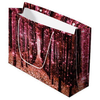 Gift Bag Magical Forest Peach Pink