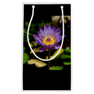 Gift bag, purple water lily. small gift bag