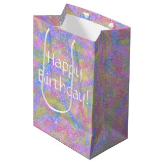 Gift Bag - Sparkly Pastel Rainbow