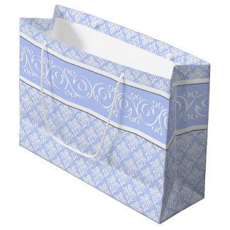Gift Bag - Wedgewood Blue Damask