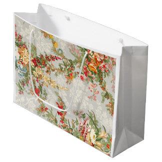 Gift Bag with a floral vintage illustration