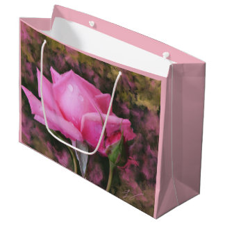Gift Bag with Pink Rose