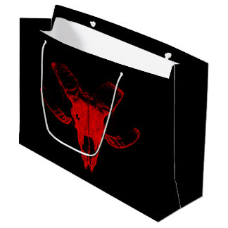 Gift bag with red sheep Totenkopf.