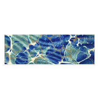 Gift Book Blue Batik Marble Bookmark Business Cards