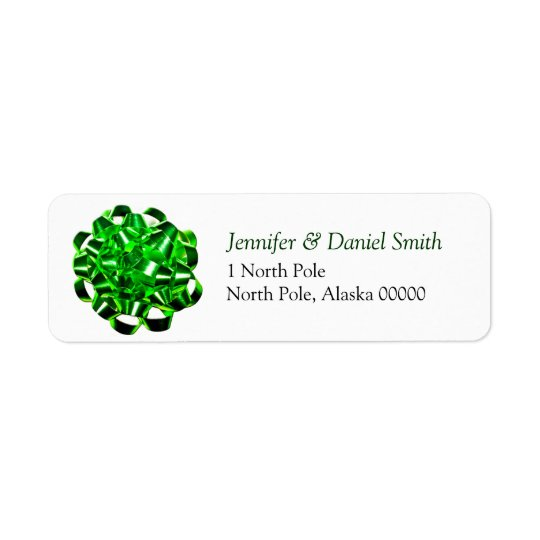 Gift Bow Christmas Card Mail Label Return Address Label