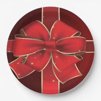 Gift Bow Paper plates