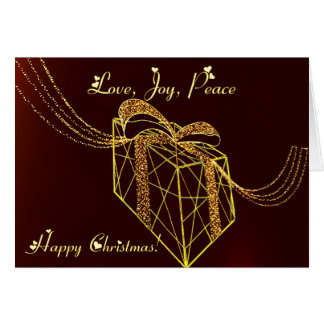 Gift box lighting card