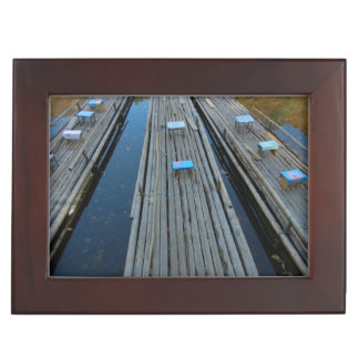 Gift Box - Rafts and Leaves on Tranquil Lake