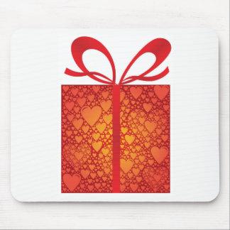 Gift Box Ribbon Hearts Red Happy Birthday Mouse Pad