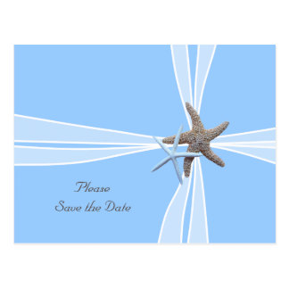 Gift Box Starfish Save-the-Date Postcard