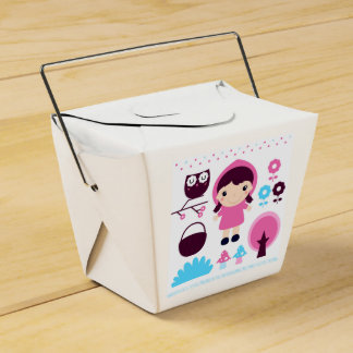 Gift box with hand-drawn Art Party Favour Box