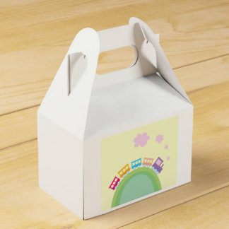 Gift box with kids train party favour boxes