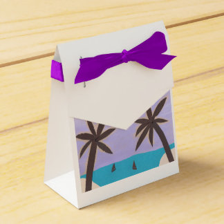Gift Box with Palm Tree Design