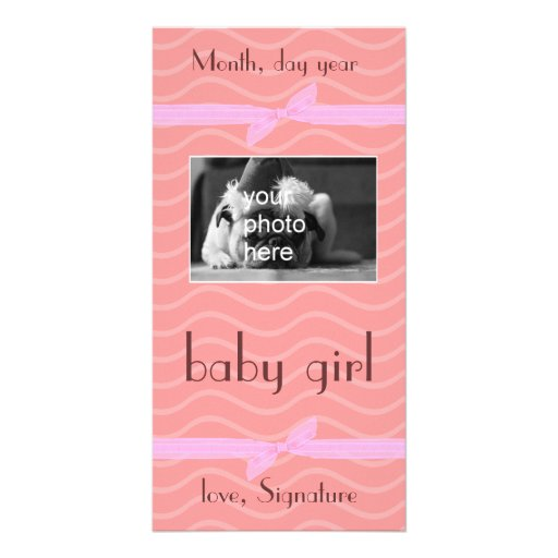 gift card all occasions she baby girl new born personalized photo card