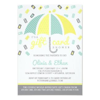 Gift Card Baby Shower Invitation, Yellow, Green