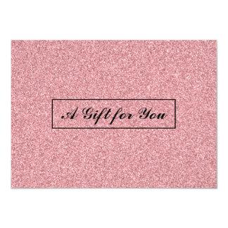 Gift Card   Glitter Rose Gold Salon & Spa 11 Cm X 16 Cm Invitation Card