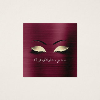Gift Certificate Burgundy Gold Lashes Makeup VIP