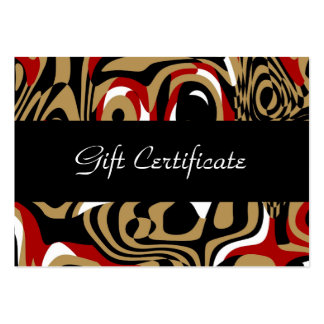 Gift Certificate Card Zizzago African Night Business Card