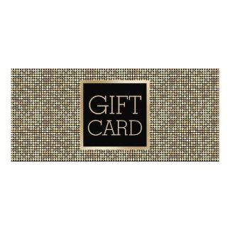 Gift Certificate Modern Gold Glitter Elegant Custom Rack Cards
