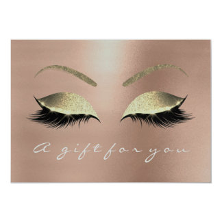 Gift Certificate Pink Rose Gold Lash Beauty Studio Card