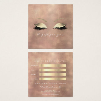 Gift Certificate Rose Linen Gold Lashes Makeup