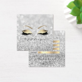 Gift Certificate Silver Glitter Gold Lashes Makeup