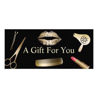 Gift Certificates | Modern Gold Beauty Salon Rack Card Template